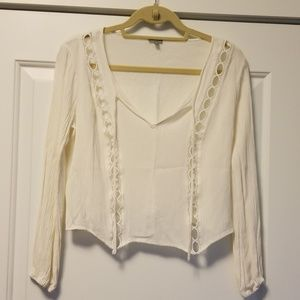 Charlotte Russe ivory top!